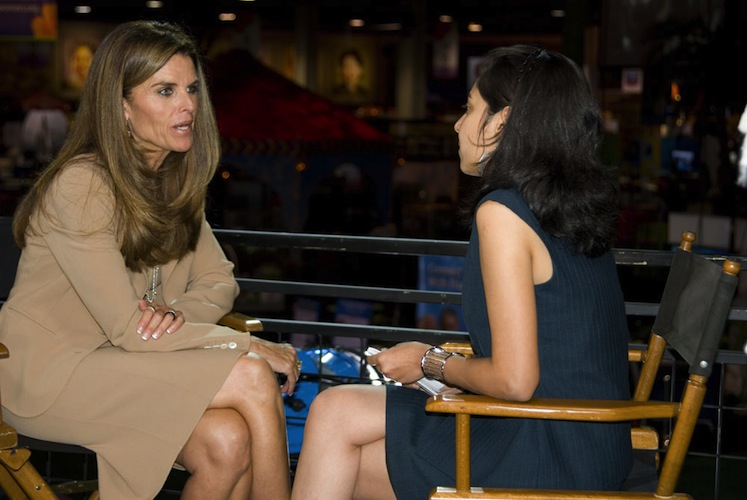 Interviewing Maria Shriver at the 2008 Women's Conference in Long Beach, CA